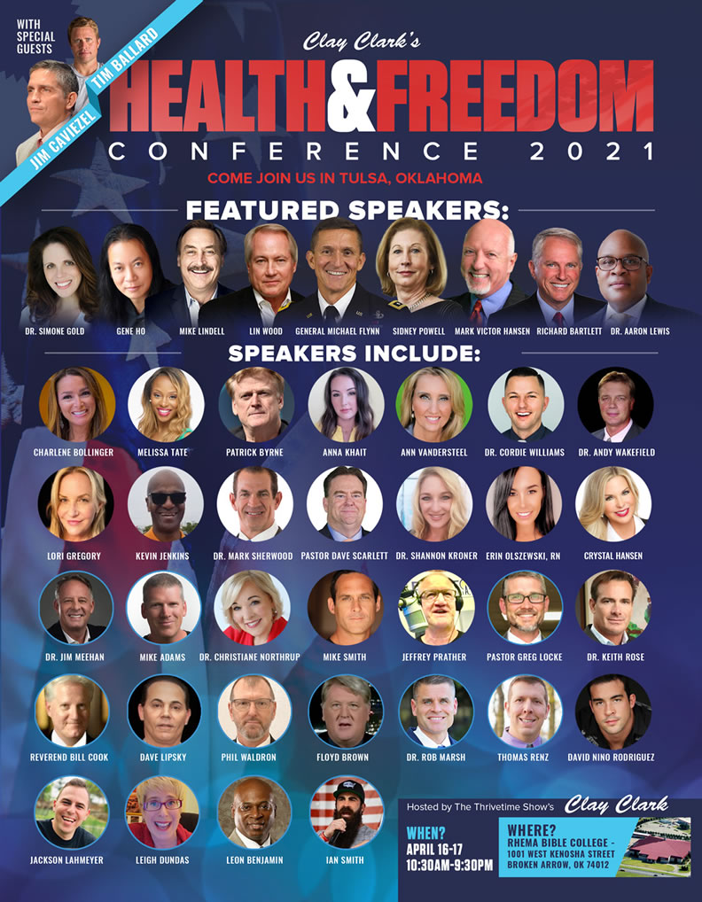 The 2021 Health and Freedom Conference Micheal Flynn Leon Benjamin for Congress Virginia