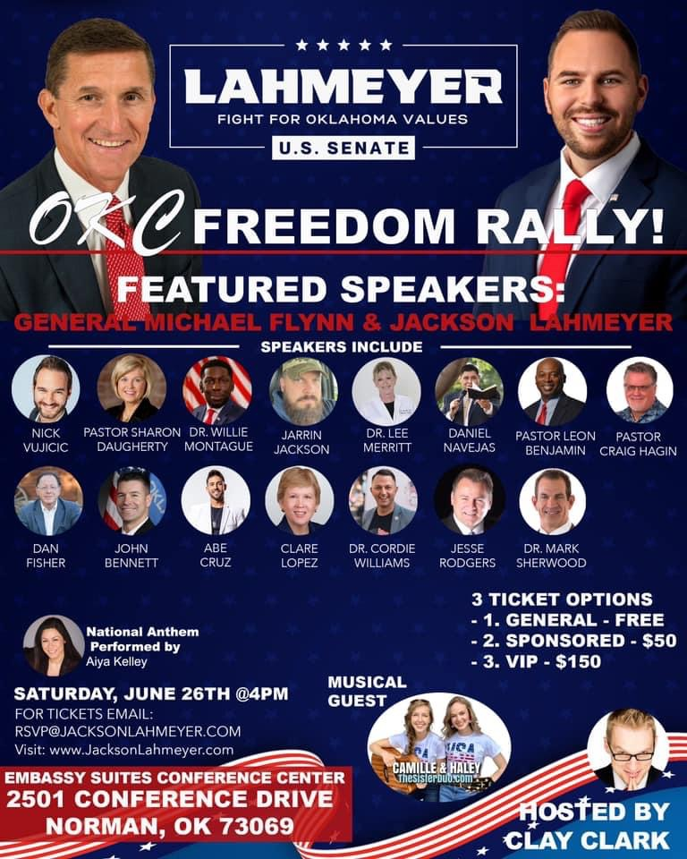 OKC Freedom Rally with Gneral Micheal Flynn - Benjamin for Congress